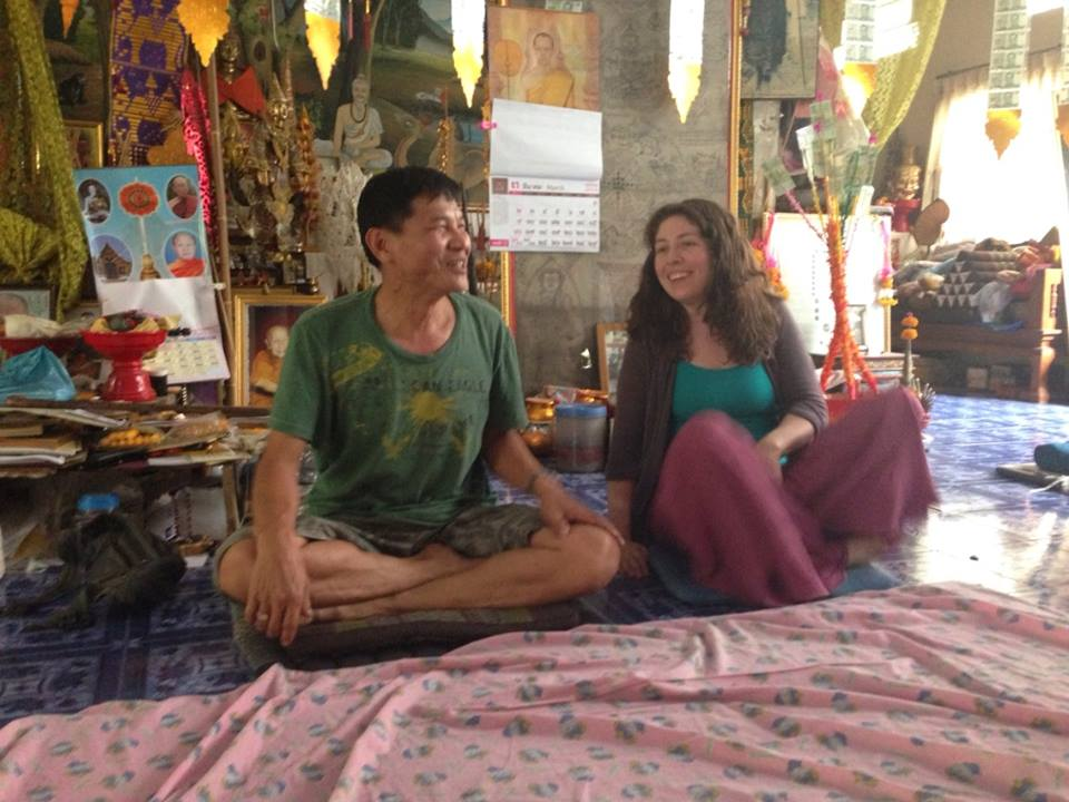 Sarah and her Thai Massage teacher, Pichet
